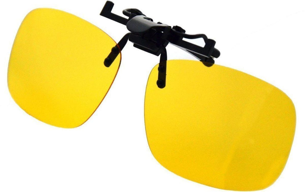9599fb3533 Clip On Sunglasses Sport Driving Night Vision Yellow Lens Sun Glasses -FASHION-PropShop24.