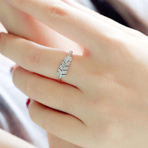 Ring - Crystal Leaf-RINGS-PropShop24.com
