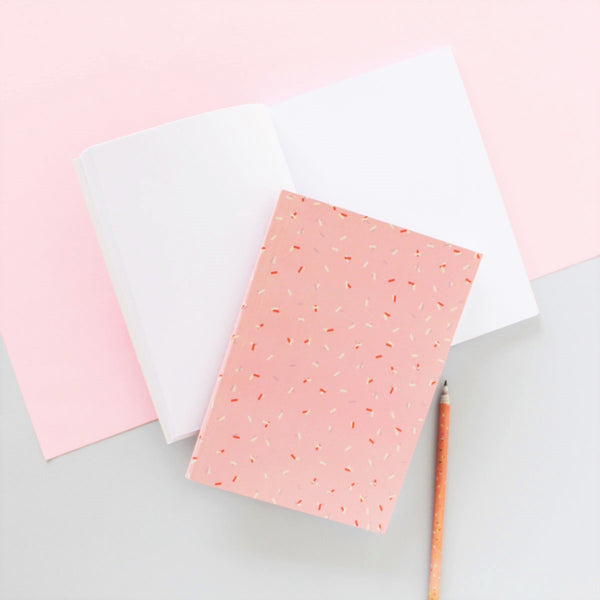Notebook - Pink Confetti - Blank pages-STATIONERY-PropShop24.com