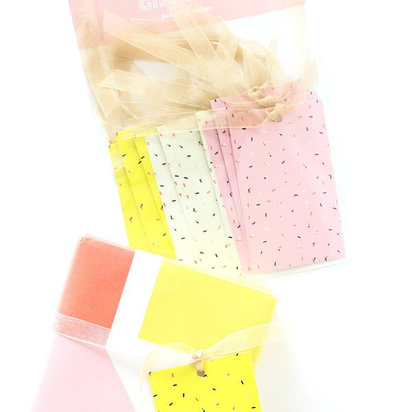 Gift Tags - Confetti - Set Of 12-STATIONERY-PropShop24.com