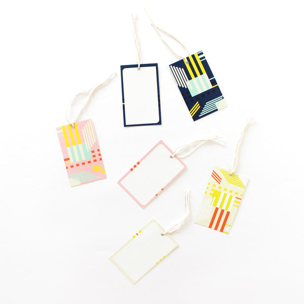 Gift Tags - Graphic - set of 12-STATIONERY-PropShop24.com