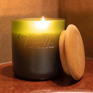 Candle - Organic With Wooden Lid - Vanilla-CANDLES + AROMA-PropShop24.com