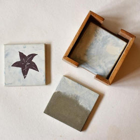 WHITE CEMENT COASTER - STAR FISH - Set Of 4-HOME-PropShop24.com