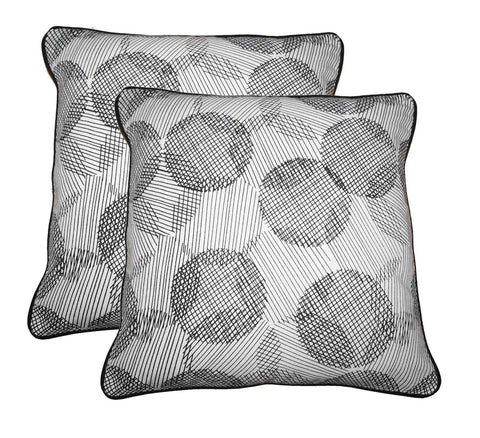 cushion covers - Geometric Printed Cotton - set of 2