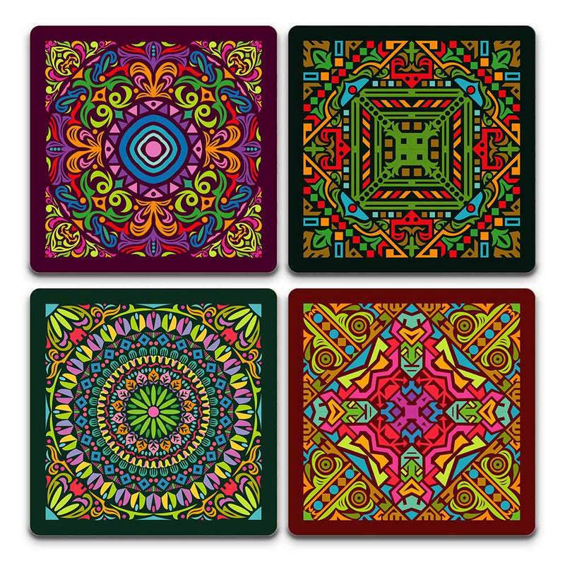 Coasters - Dark Mandala Pack | Set Of 4-BAR + PARTY-PropShop24.com
