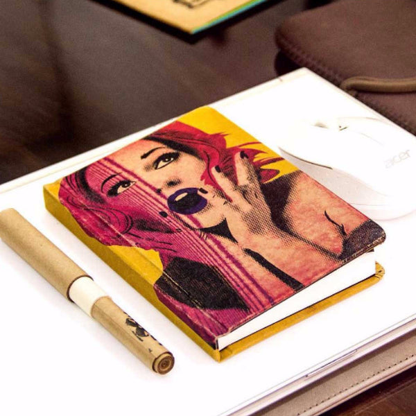 Vintage Notebook - Yellow Marilyn Monroe-Stationery-PropShop24.com