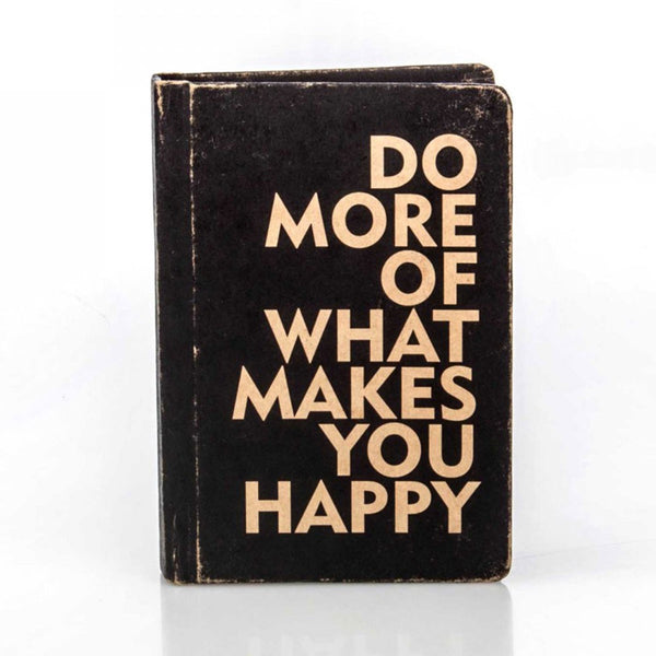 Vintage Notebook - Do More Of What Makes You Happy(Black)-Stationery-PropShop24.com