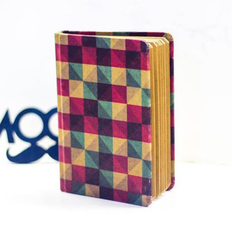 Vintage Notebook - Coloured Checkered - propshop-24