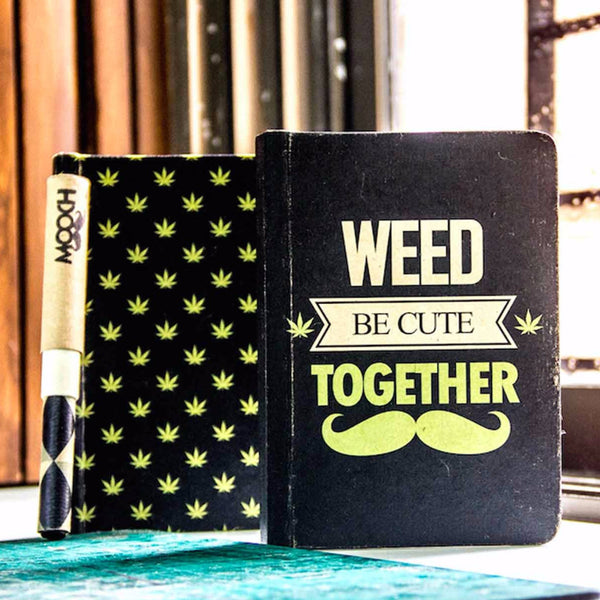 Vintage Notebook - Weed Be Cute Together-Stationery-PropShop24.com