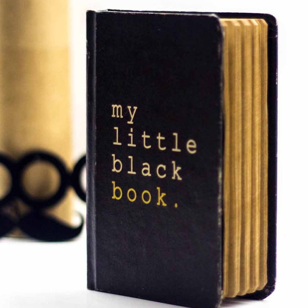 Vintage Notebook - My Little Black Book-Stationery-PropShop24.com