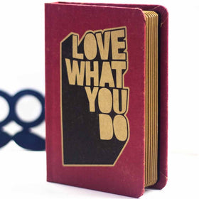 Vintage Notebook - Love What You Do - Red-Stationery-PropShop24.com