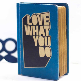 Vintage Notebook - Love What You Do - Blue-Stationery-PropShop24.com