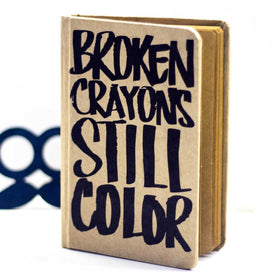 Vintage Notebook - Broken Crayons-Stationery-PropShop24.com