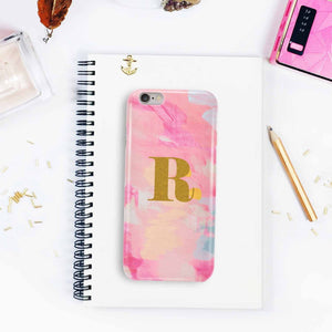 Monogram R In Gold Phone Case - Iphone 6/ 6S-PHONE CASES-PropShop24.com