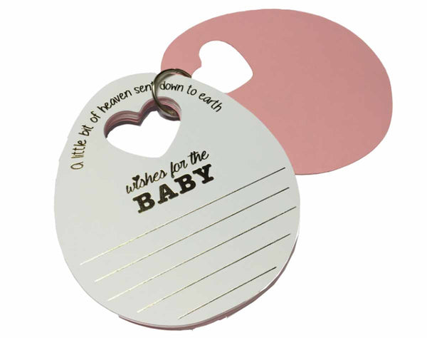 Baby Wish Cards - Pink - Set of 20-Stationery-PropShop24.com