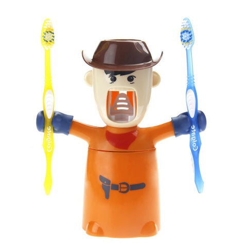 Toothpaste Dispenser - Warrior - Orange - propshop-24