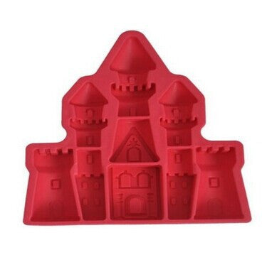 Icetray / Chocolate Mould - Castle Shaped - Red-Home-PropShop24.com