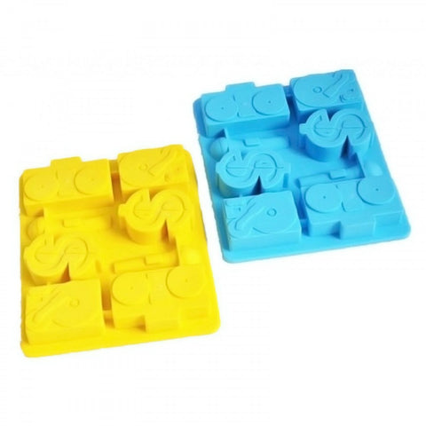 Icetray / Chocolate Mould  - Dollar Shaped - Blue - propshop-24