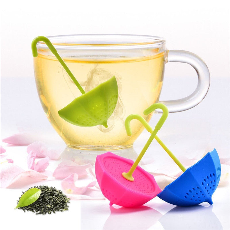 Tea Infuser - Umbrella - Green-DINING + KITCHEN-PropShop24.com