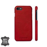 iPhone 7 or 8 Leather Case - BLOOD RED color-GADGETS-PropShop24.com