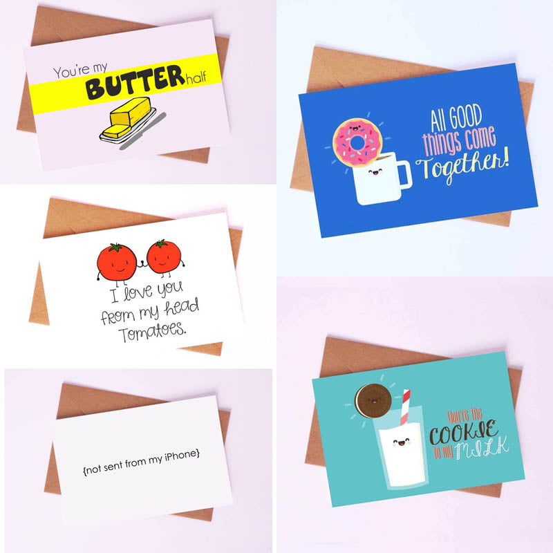 Greeting Cards - Cookie Milk - Set Of 5-GREETING CARDS-PropShop24.com