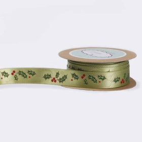Ribbon - Green Holly-STATIONERY-PropShop24.com