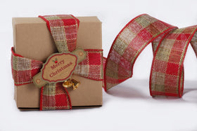 Ribbon - Green and red plaid-STATIONERY-PropShop24.com