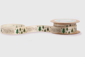 Ribbon - Tiny Christmas trees-STATIONERY-PropShop24.com
