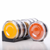 SPICE RACK - CYCLINDRICAL - BLACK-Home-PropShop24.com