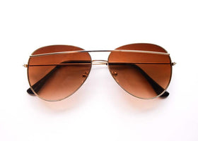 Aviators- Brown Gradient Bridged Sunglasses-FASHION-PropShop24.com