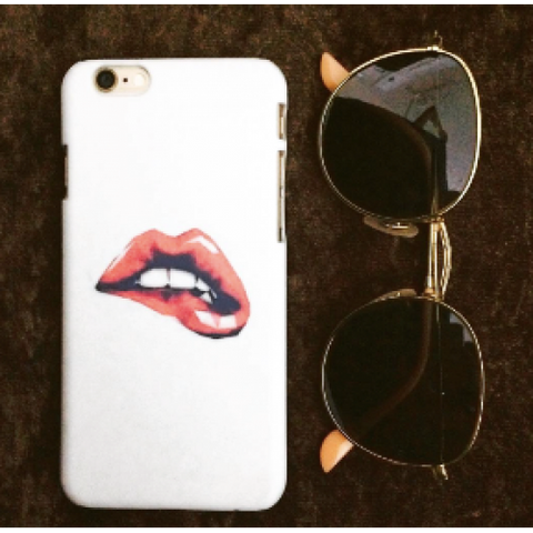 phone cover - red lip on white-Gadgets-PropShop24.com