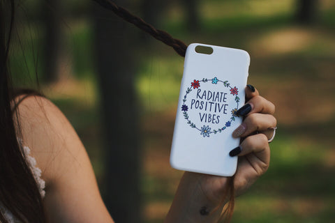 phone cover - Radiate positive vibes-Gadgets-PropShop24.com