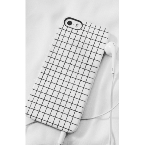 phone cover - White and Black Grids-Gadgets-PropShop24.com