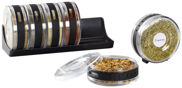 Spice Rack - Cylindrical - Black-Home-PropShop24.com