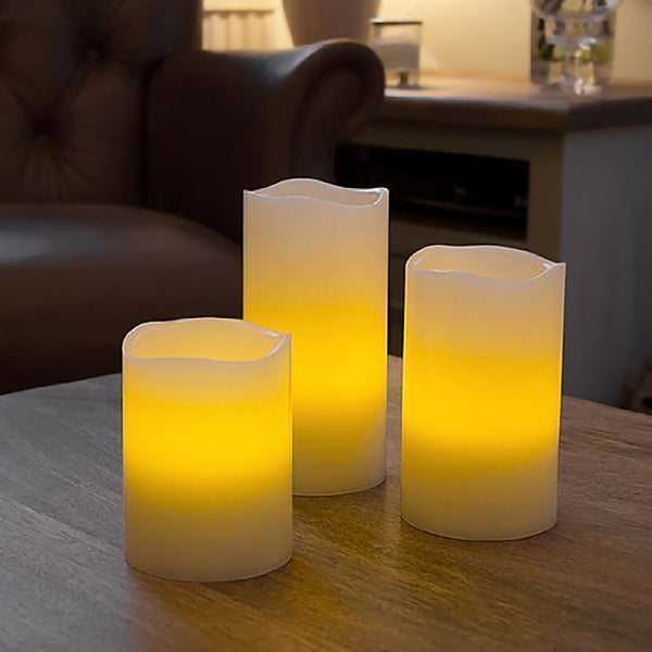 Candle with Remote Control - Set of 3-Home-PropShop24.com