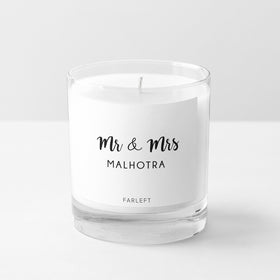 Candle - Personalised - Mr & Mrs - C.O.D Not Available-HOME-PropShop24.com