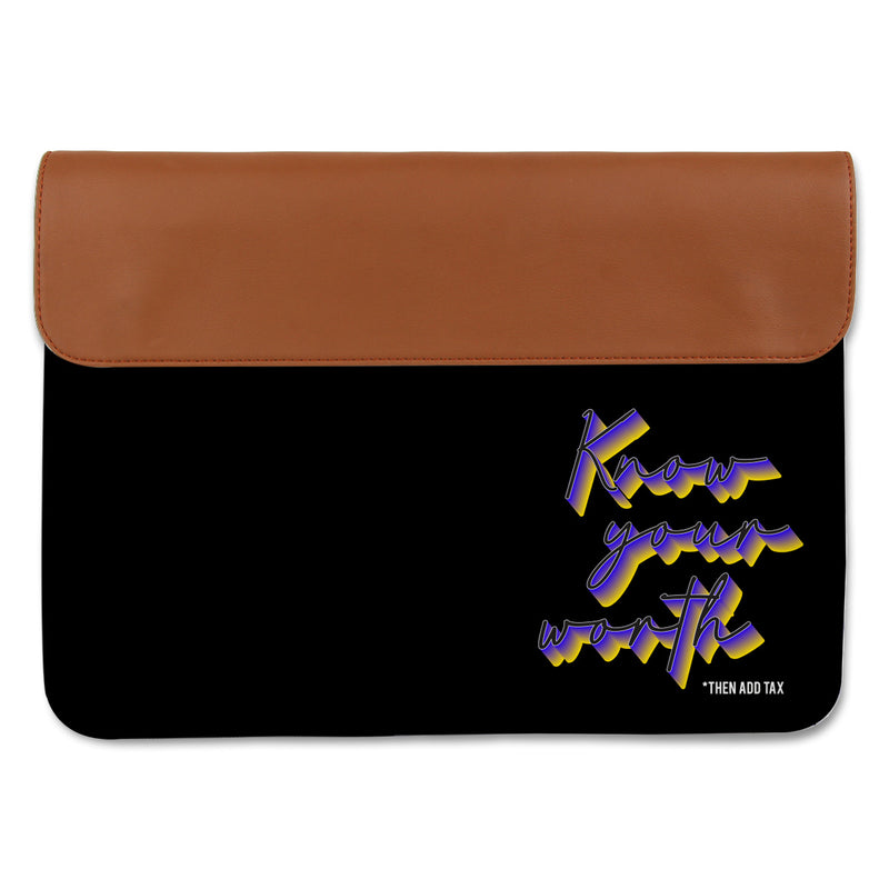 Canvas Laptop Sleeve - Know Your Worth-Gadgets-PropShop24.com