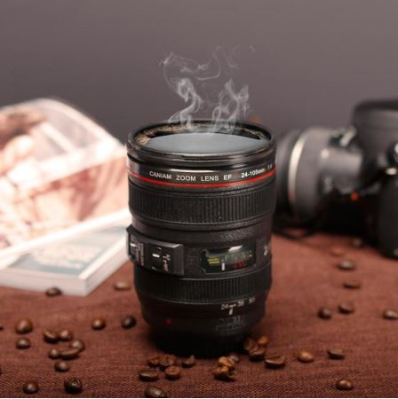 Coffee Mug - Camera Lens with Sipper Lid-HOME-PropShop24.com