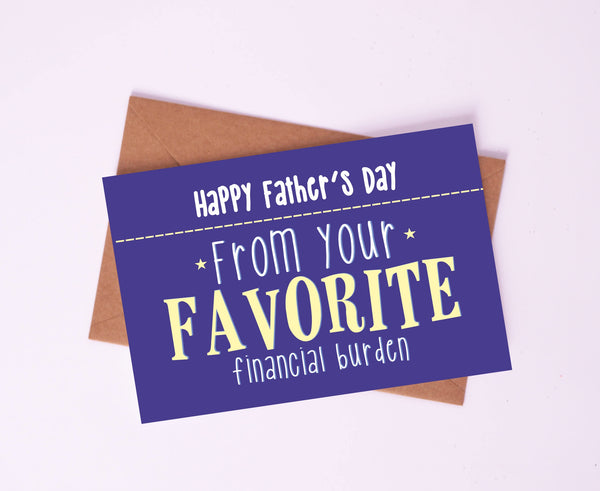 Greeting Card-Favorite Financial Burden-STATIONERY-PropShop24.com