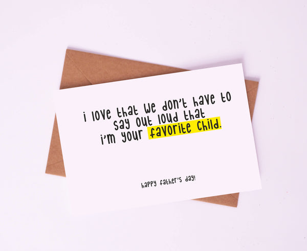 Greeting Card-Favorite Child-STATIONERY-PropShop24.com