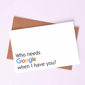 Greeting Card-Who Needs Google-STATIONERY-PropShop24.com