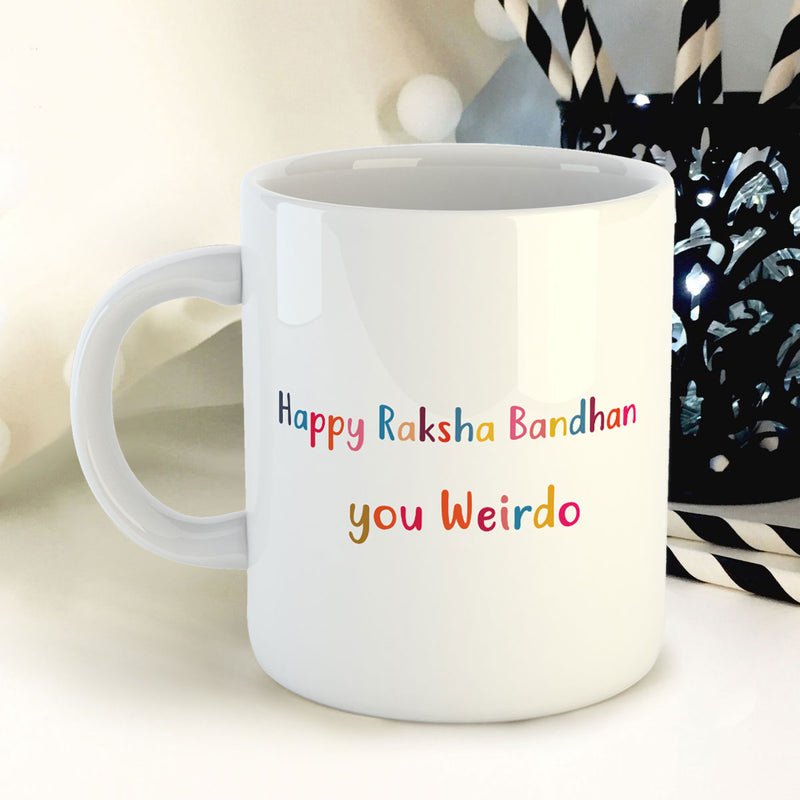 Coffee Mug - Happy Raksha Bandhan Weirdo-HOME-PropShop24.com