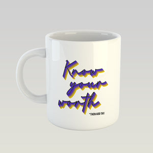 Coffee Mug - Know Your Worth-DINING + KITCHEN-PropShop24.com