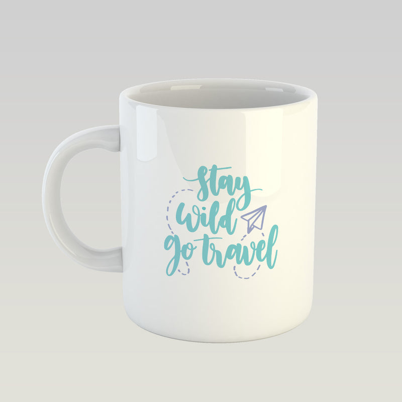 Coffee Mug - Stay Wild Go Travel-DINING + KITCHEN-PropShop24.com