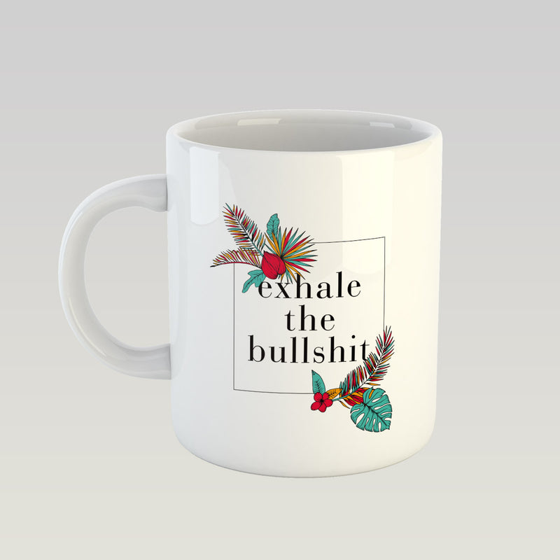 Coffee Mug - Exhale The Bullshit-DINING + KITCHEN-PropShop24.com