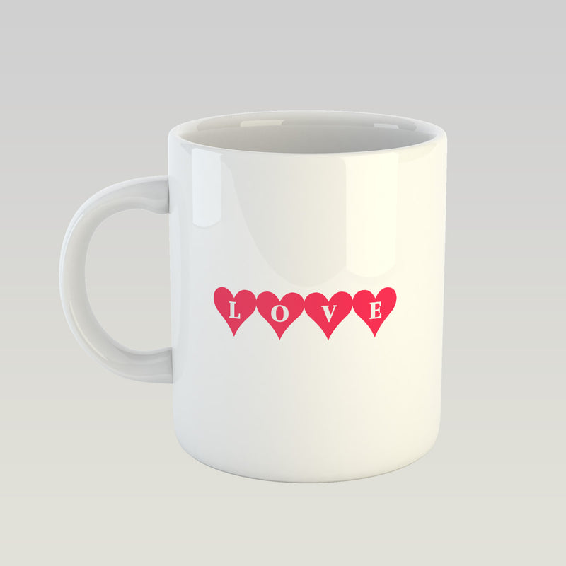 Coffee Mug - Love Typography-DINING + KITCHEN-PropShop24.com