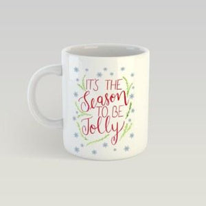 Coffee Mug - Season To Be Jolly - White-HOME-PropShop24.com