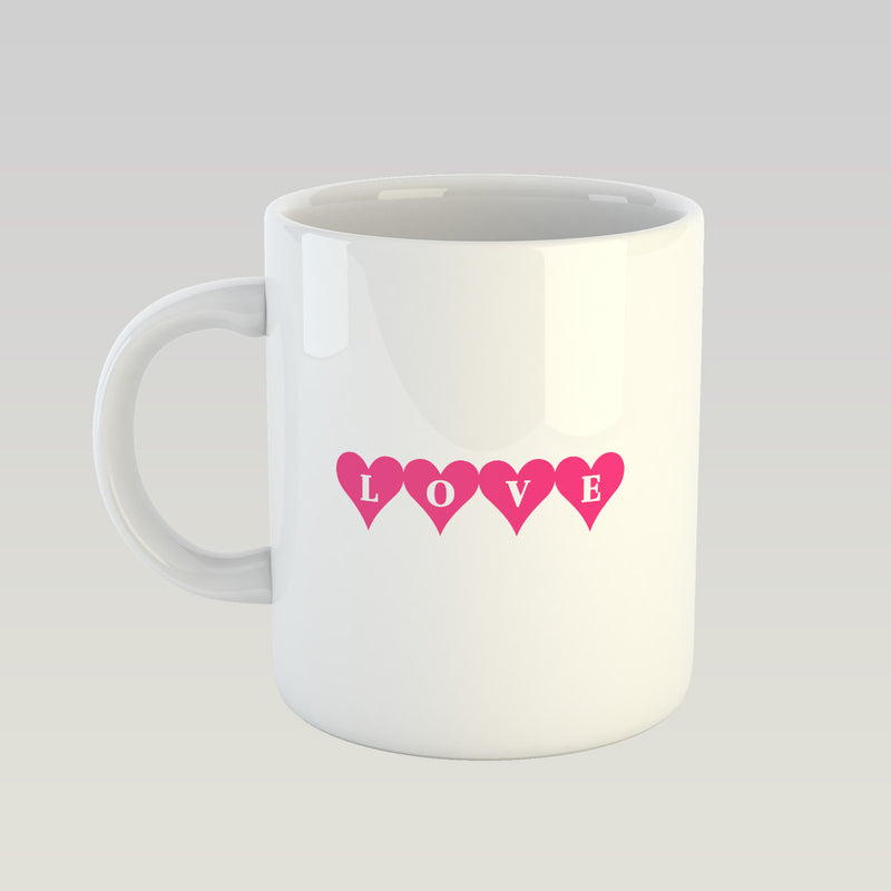 Coffee Mug - Love Written On Hearts-DINING + KITCHEN-PropShop24.com