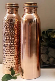 Rose Gold Set Of 2 - 950 Ml (One Hand Hammered And One Gloss Finish)-HOME-PropShop24.com