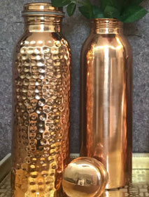 Rose Gold Set of 2 - (One hand hammered and one gloss finish) - 750ml-HOME-PropShop24.com